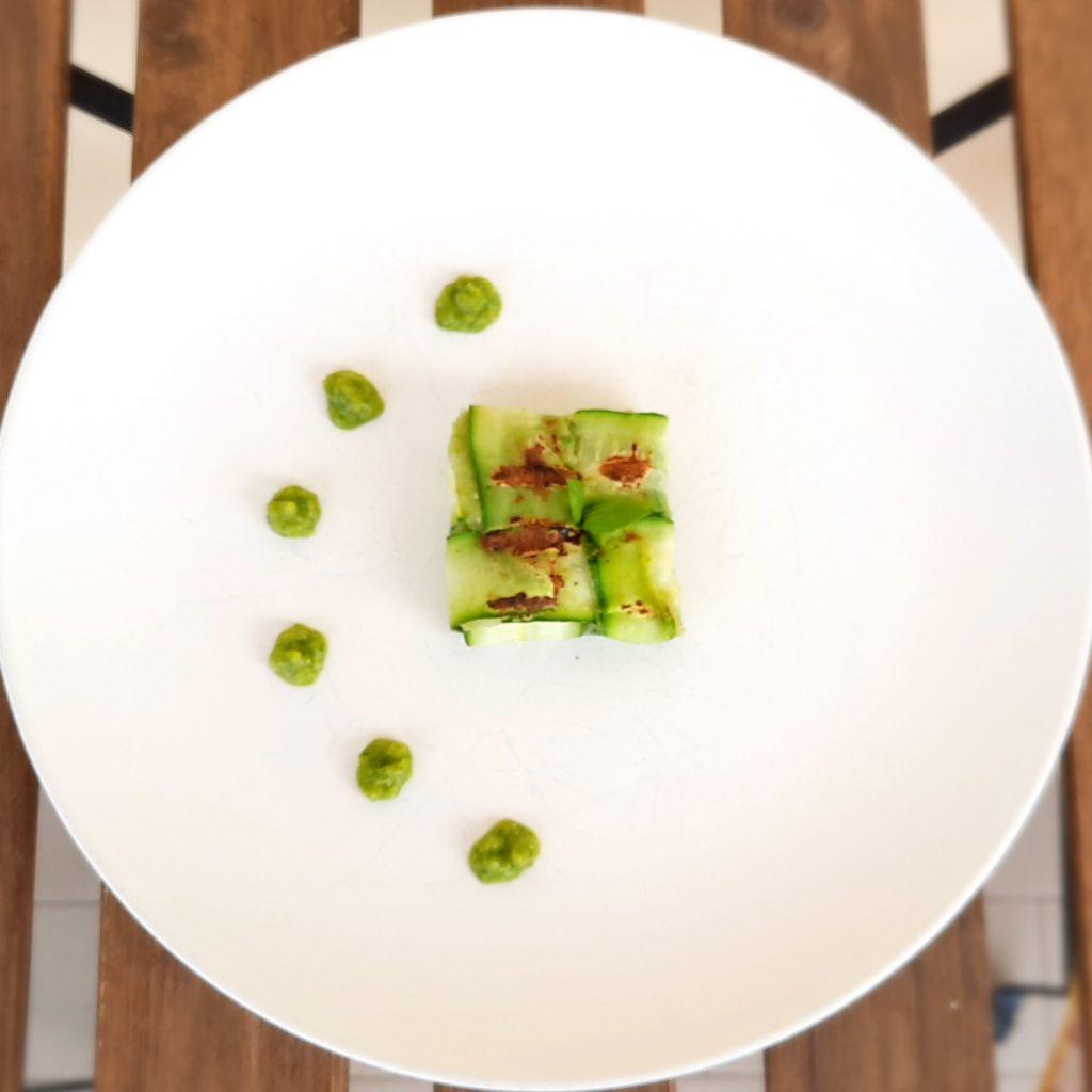 Zucchine con patate e semi di girasole