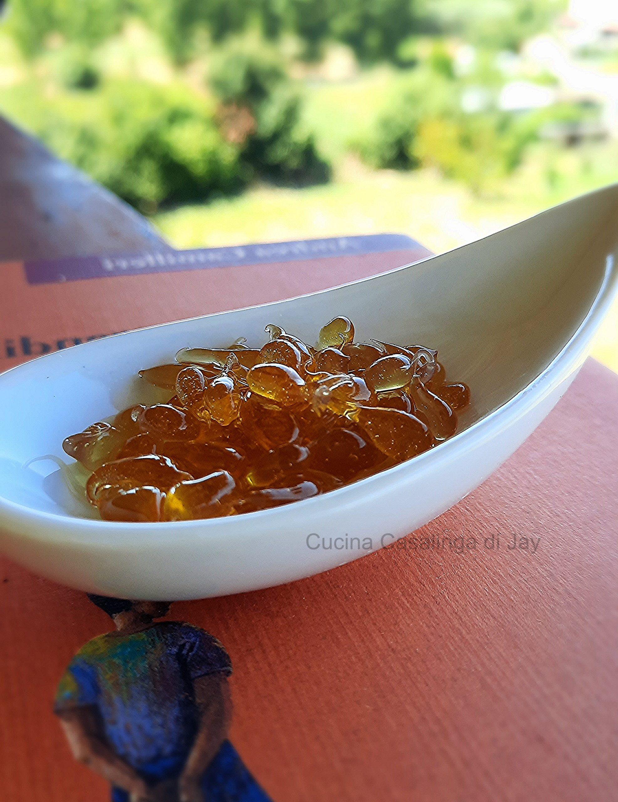 Caviale di miele con agar agar