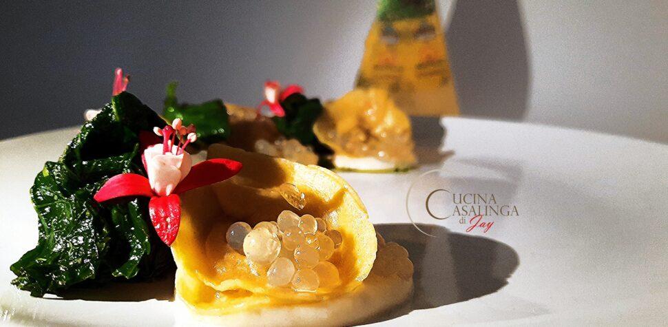 ricetta prima classificata al contest Caseus Veneti 2020 con tortelli all'Asiago Dop e cipolla caramellata