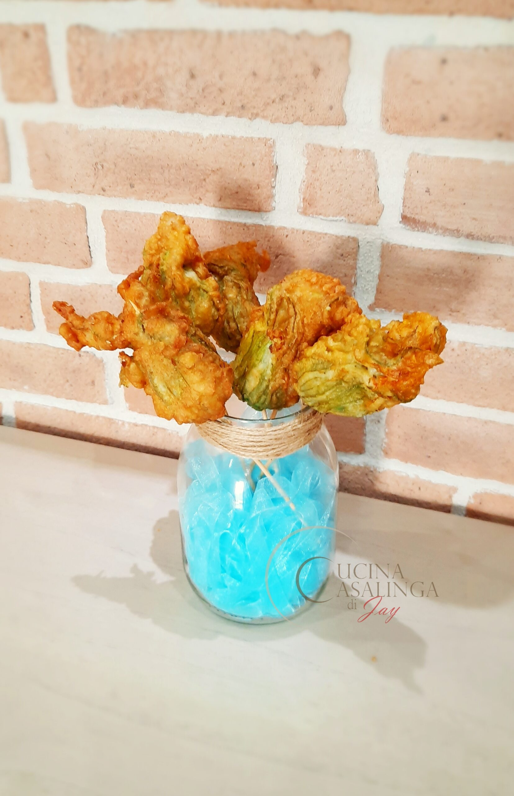 Bouquet di fiori di zucca ripieni