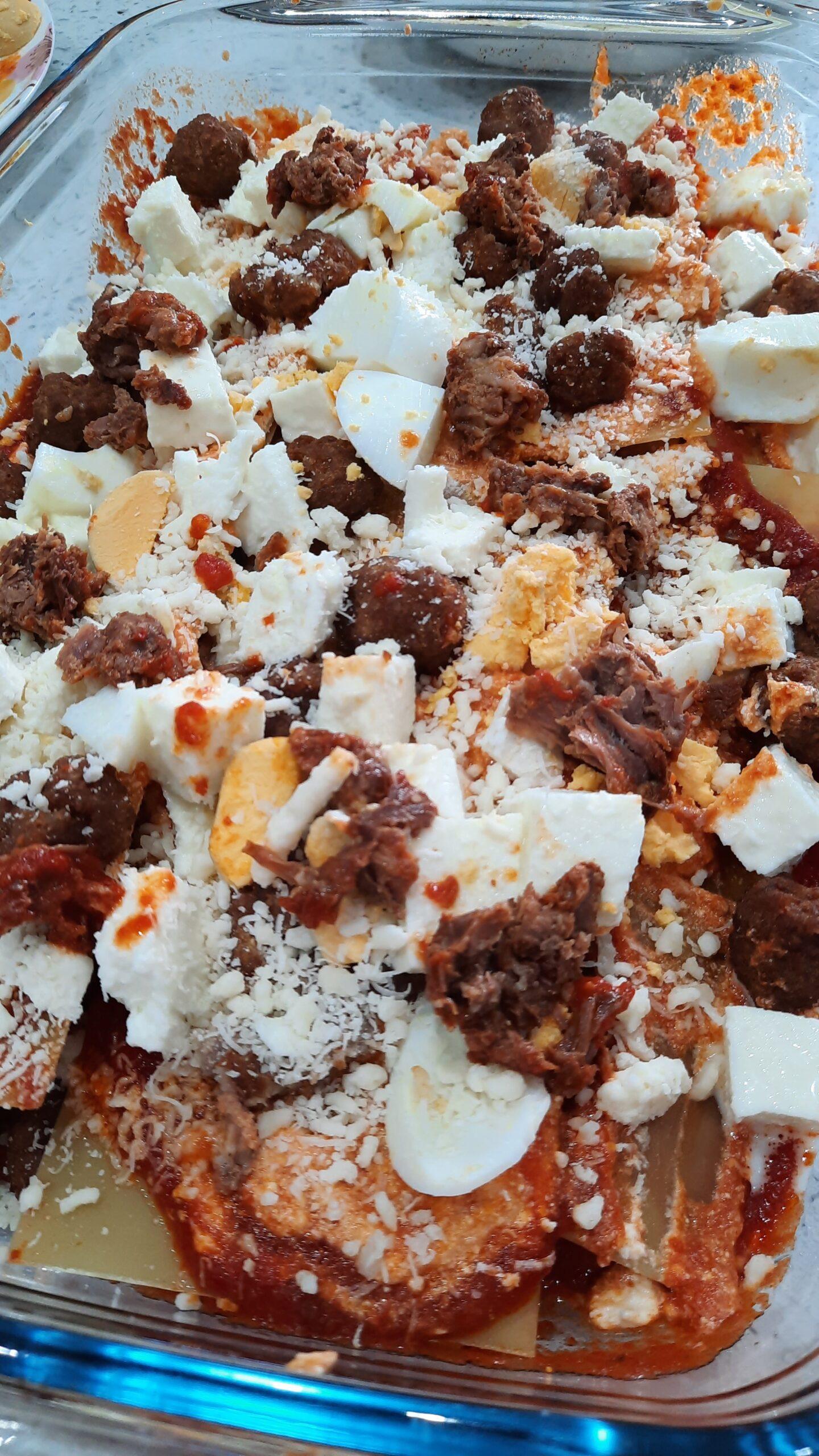 Lasagna napoletana di Carnevale - interno della lasagna