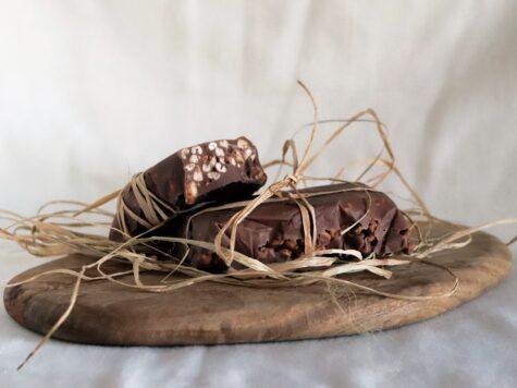 snack di orzo e cioccolato