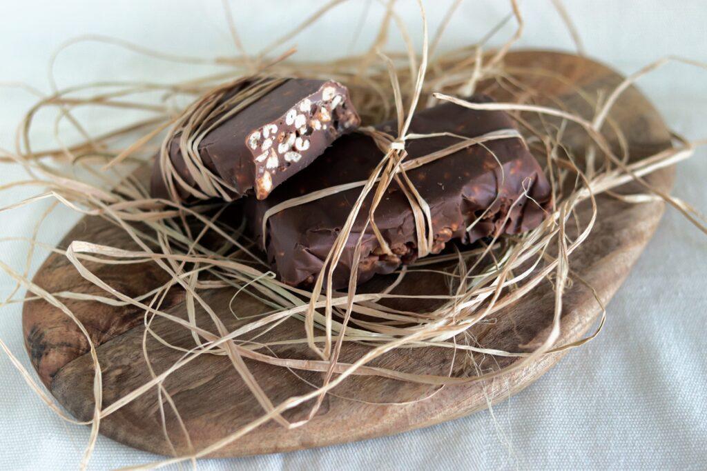Barrette di orzo soffiato e cioccolato
